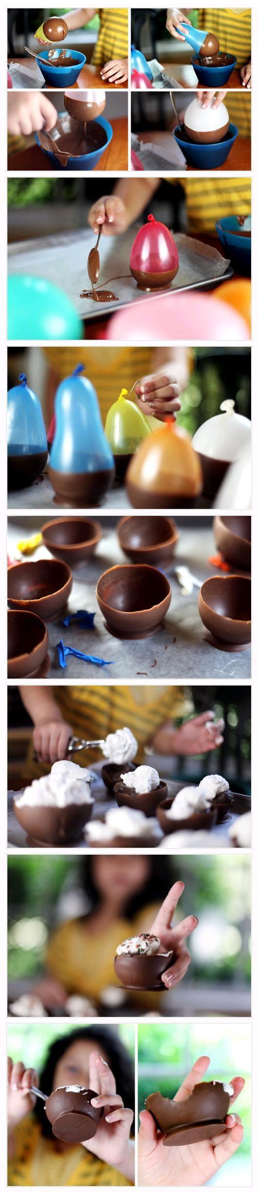 Egyszerű, de nagyszerű! Ez a csokitál, lufiból.