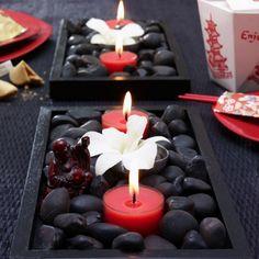Fekete kövek és piros gyertya... Teli találat!