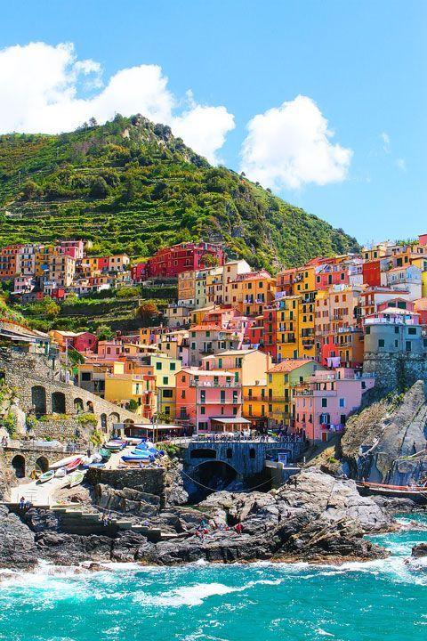 Tengerparti színkavalkád - Riomaggiore, Olaszország