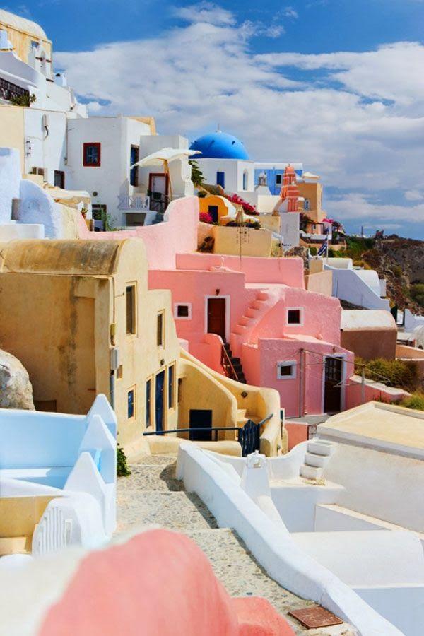 Pasztell paradicsom - Santorini, Görögország